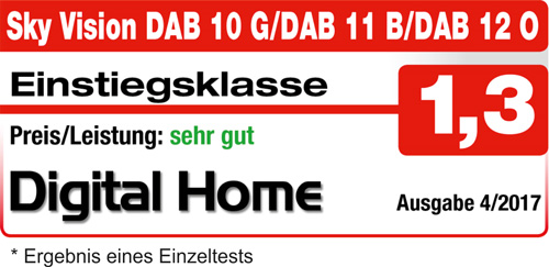 sky vision - Digitalradio DAB12 - sehr gut - Digital Home