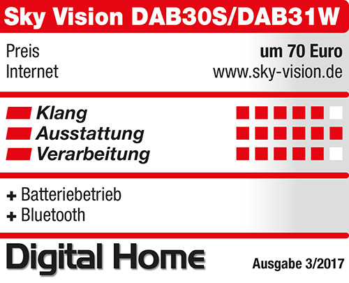 sky vision DAB30 - Digital Home 03-2017