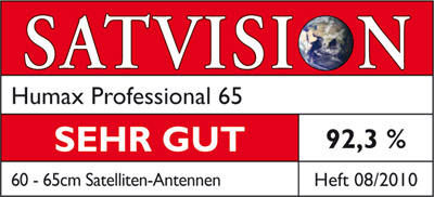 Satvision - Humax Professional Spiegel