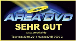 Humax DVR-9900C AREA DVD sehr gut 01/2014